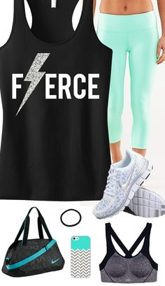 FIERCE Glitter Lightning Black Racerback Gym Tank Top by NobullWomanApparel, $24.99 on Etsy.  Click here to buy https://www.etsy.com/listing/174651408/fierce-glitter-lightning-black-workout?ref=shop_home_active_2ga_search_query=fierce