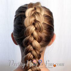 Pretty Hair is Fun: Easy Pulled Dutch Braid / french braid/ hair/ hairstyles/ braid hairstyles/ easy braid/ pancaked braids / dutch braid