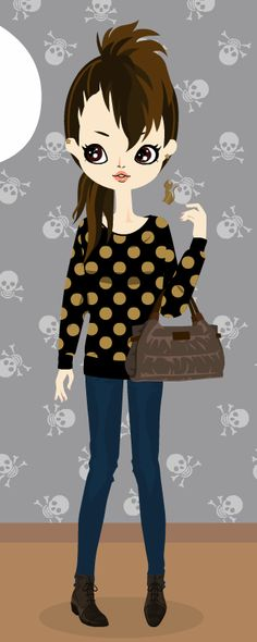 i'm dressed up today by my poupee is not.