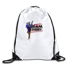 Team Gabby Douglas USA Olympic2 Lightweight 100 Polyester Drawstring Canvas Travel Bag White One Size * Click image to review more details.