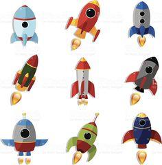 우주 로켓 royalty-free 일러스트
