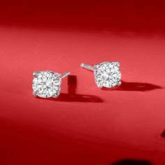 Details about  /Solitaire Stud For Women/'s Earrings 14K Gold Princess Natural Diamond