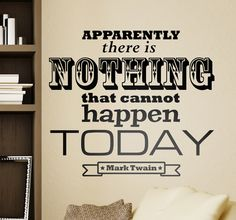 A great motivational wall sticker to keep you focused! Superb monochrome decal to decorate your favourite space at home. A new day means a new opportunity!  #MarcTwain #quote #stickers