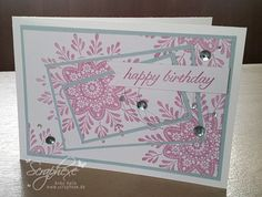 "Blog Hop ""Stempeltechniken"" – Triple Stampin with Frosted Medallions"