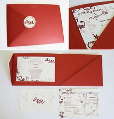 Amber and Marc Wedding invitations