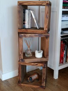 Chunky Solid Wood 3 CUBE Shelf Unit - Wall / Freestanding NEW Recycled Reclaimed in Home, Furniture & DIY, Furniture, Bookcases, Shelving & Storage | eBay