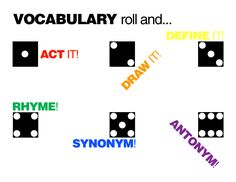 vocabulary activity - roll and do