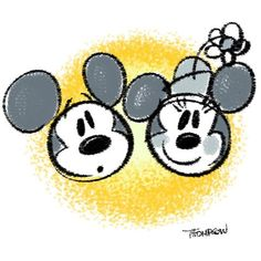 Mickey and Minnie Mickey Mouse And Friends, Mickey Minnie Mouse, Disney Mickey, Disney Sketches, Disney Drawings, Drawing Disney, Arte Disney, Disney Fan Art, Baby Disney