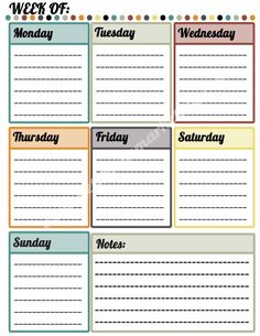 """Colorful Calendar"" #Printable #FREEBIE #Netchicks"