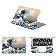 Huge Ocean Wave Full Body Laptop Decal Sticker Case For Apple Macbook Air Pro 11 13 15 Inch Guard Bottom Surface Protective-in Laptop Skins from Computer & Office on Aliexpress.com | Alibaba Group Macbook Pro Stickers, Macbook Air Pro, Nintendo Ds Lite, Apple Mac, Skin Case, Apple Products, Ocean Waves, Laptop Skin, Alibaba Group
