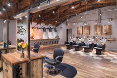 Learn how The Boulevard Hair Salon is Webster Groves' top hair & bridal salon. Boulevard offers only the best hair salon services in Saint Louis, MO. Design Salon, Beauty Salon Design, Salon Interior Design, Industrial Salon Design, Design Design, Design Ideas, Salon Shampoo Area, Hair Salon Stations, Top Hair Salon