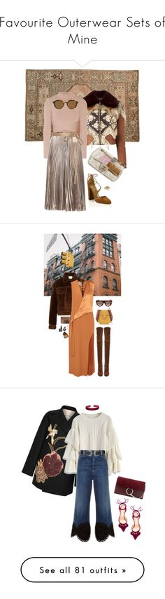 """Favourite Outerwear Sets of Mine"" by loveraige on Polyvore featuring Alexander McQueen, Jonathan Simkhai, Valentino, Giorgio Armani, Chanel, Burberry, 3.1 Phillip Lim, Morphe, CÉLINE and Dion Lee"
