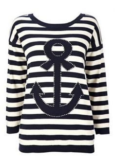 Anchor Pattern Long Sleeve Striped T Shirt on sale only US$20.82 now, buy cheap Anchor Pattern Long Sleeve Striped T Shirt at modlily.com