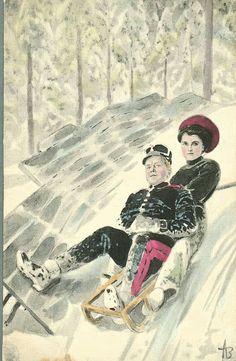 Andreas Bloch akende par Utg Mittet postgått 1907 Scandinavian, Costumes, Baseball Cards, Painting, Art, Kunst, Art Background, Dress Up Clothes, Fancy Dress