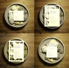 diferentes estilos para invitaciones con papel cortado
