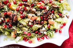 Warm Roasted Brussels Sprout Apple Salad with Blue Cheese and Pecans Recipe - Jeanette's Healthy Living