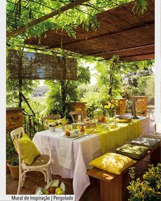 33 pergola ideas to keep you cool this summer - decoration ideas - 33 Pergola ideas to keep cool this summer. Summer pergola ideas keep it cool - Outdoor Rooms, Outdoor Dining, Outdoor Gardens, Outdoor Decor, Dining Table, Dining Area, Dining Room, Outdoor Living Spaces, Outdoor Tables