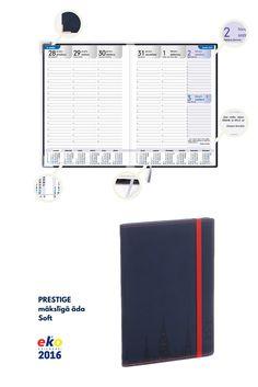 BALTA eko 2016.gada plānotāju kolekcija: PRESTIGE, mākslīgā āda Soft.