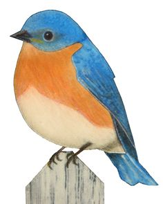 Free Bluebird Applique Pattern from buzzinbumble.com