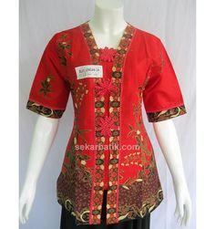 Blus Batik kerja merah