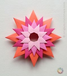 Guide to the unique modular Origami Venetian Star (Stella Veneziana), designed by Paolo Bascetta. Made from layers of single stars. Beginner friendly!
