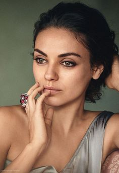 Mila Kunis by Boo George for Gemfields • 2015  She looks so beautiful here!!