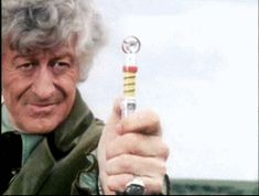 doctor who classic who third doctor john pertwee sonic screwdriver blowing shit up