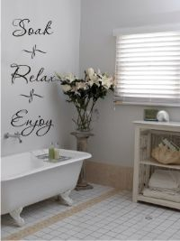 Bathroom Sayings - Personalized Wall Decor Letters, Quotes, Decals and Words   Stencil Like Letters