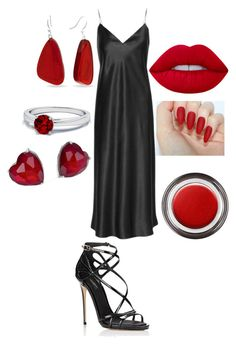 """""""Untitled #83"""" by wherethewldthngsr ❤ liked on Polyvore featuring Yves Saint Laurent, Dolce&Gabbana, Lime Crime, Kim Rogers, Adriana Orsini and Giorgio Armani"""