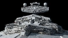 Imperator-class Star Destroyer Redux by Ansel Hsiao, Fractalsponge Fear Leads To Anger, Imperial Army, Star Wars Ships, Star Destroyer, Reference Images, Battleship, Image Shows, Dark Side, Close Up