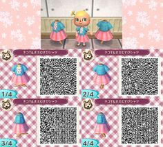 Animal crossing new leaf QR codes tumblr. Super cute outfits and more!