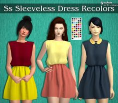 Ss Sleeveless Dress Recolors at Tukete • Sims 4 Updates