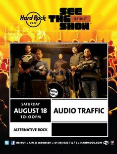Audio Traffic Live at Hard Rock Cafe, Live Music, . The band will be playing the best alternative rock tunes while you'll be able to enjoy one of Hard Rock Cafes mouth-watering platters....