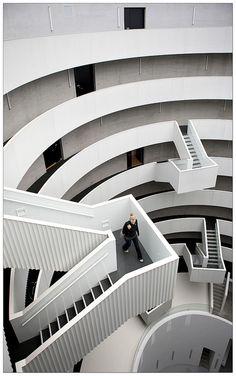 Inside the Gemini Tower - Copenhagen, Denmark; designed by MRVD; photo by Clement Guillaume, via Flickr