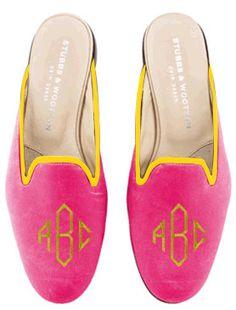 Stubbs & Wootton - #monogram #pink