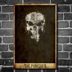 The Punisher movie poster minimalist poster by ThePowerCosmic, $15.00