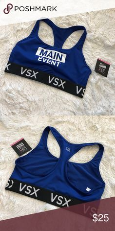 """VSX Racerback Sports Bra Item: VSX Racerback Sports Bra  Color: Blue (Main Event)   ❌ NO TRADES!  ✅ Ask me for a bundle to save money!  ✅ Item listed on ♏️ for a lower price.   Don't """"like"""" it, own it! ☺️  ⬇️✨⬇️✨⬇️✨⬇️✨⬇️✨⬇️✨⬇️✨⬇️ Listing prices are based on what I paid for each item. Lowball offers will be ignored and deleted. Users with unnecessary comments will be blocked!  ⬆️✨⬆️✨⬆️✨⬆️✨⬆️✨⬆️✨⬆️✨⬆️  Closet Tags: VS, Victoria's Secret, Sport, PINK, Nike, Follow Me, Follow Game Victoria's…"""