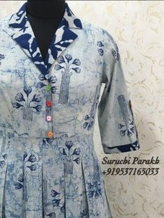 Designer Neck Designs For Kurta - Kurti Blouse Designs For Dresses, Dress Neck Designs, Blouse Designs, Chudi Neck Designs, Neckline Designs, Kurta Designs Women, Salwar Designs, Indian Kurtis Designs, Cotton Kurtis Designs