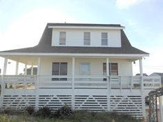 cottage taken from beach - Ocean Front, Outer Banks, 3BR, 2BA, Pet Friendly -  - rentals. Rodanthe-$133/night