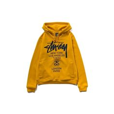 STUSSY WEB CHAPT オフィシャルオンラインストア | 商品詳細 | Kids World Tour Hood ❤ liked on Polyvore featuring tops, outerwear and sweaters