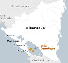 Island made of double volcanoes in the middle of the massive Lake Nicaragua