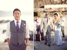 love her wedding! I have the same colors. love her shoes! Love the grooms outfit