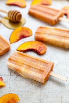 Roasted Peaches & Cream Popsicles