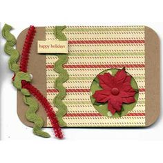 Poinsettia Christmas Gift Tag