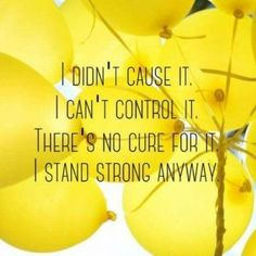 Your Daily Reminder: You didn't cause your chronic illness. You can't control your chronic illness. There's most likely no cure for your chronic condition. But remember to stand strong despite all of that 🧡 Endometriosis Awareness, Endometriosis Quotes, Endometriosis Pain, Epilepsy, Chronic Illness Quotes, Chiari Malformation, Chronic Migraines, Crps, Chronic Fatigue Syndrome