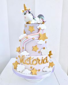 🦄 Happy birthday Victoria 🦄 Cake by @bellasbakery - Monza . . . #bellasbakery #monza #cakedesign #cakedesignmonza #cakedesignmilano… Candy Birthday Cakes, Birthday Cake Girls, Happy Birthday, Victoria Cakes, Ballerina Cakes, 1st Birthdays, Cake Shop, Girl Cakes, Cake Mold