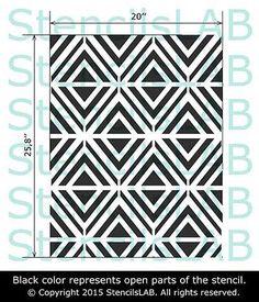 Wall Stencil - Modern Geometric Pattern Stencil - Seamless Pattern Wall Stencil