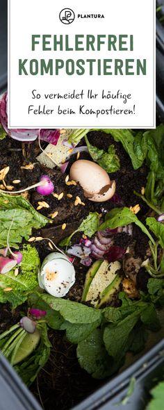 5 mistakes you should definitely avoid when composting - Plantura - Error-free composting: How to avoid common mistakes when composting! Having your own compost is ver - Herb Garden, Indoor Garden, Vegetable Garden, Outdoor Gardens, Garden Tools, Clean Out, Gemüseanbau In Kübeln, Weed Seeds, Container Gardening Vegetables