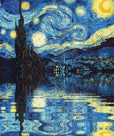 - (the starry night)(vincent van gogh)(painting)(animated gif) - Van Gogh Pinturas, Van Gogh Art, Van Gogh Paintings, Sad Paintings, Gif Animé, Gif Art, Animated Gif, Art Plastique, Oeuvre D'art