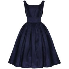 Lindy Bop Women's Lana' Vintage 1950's Dress ($65) ❤ liked on Polyvore featuring dresses, short dresses, vestidos, vintage, cocktail party dress, blue cocktail dress, blue prom dresses, vintage mini dress and blue party dress